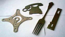 Chapa em aço inox cortada